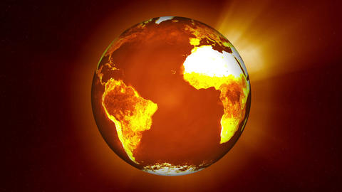 Earth Global Warming Change Stock Video Footage
