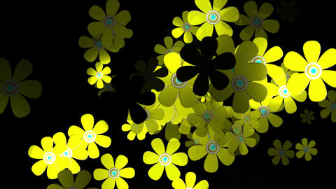 Flying Flowers 3 Animation