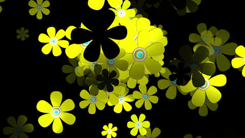 Flying Flowers 3 Stock Video Footage