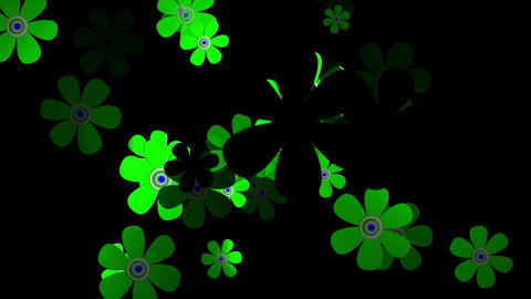 Flying Flowers 5 Stock Video Footage