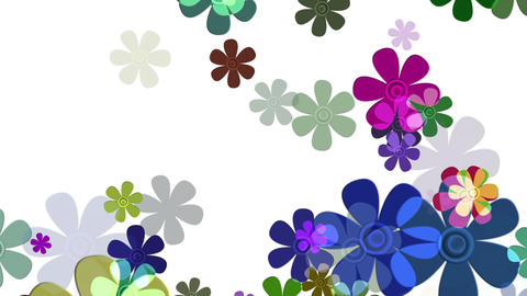 Flying Flowers 11 Animation