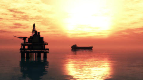 Oil Platform Tanker 2 Animation