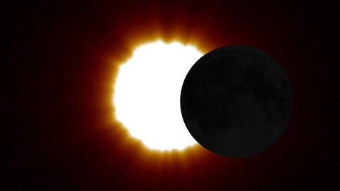 Solar Eclipse 2 Stock Video Footage