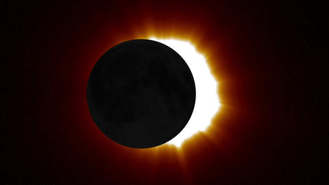 Solar Eclipse 2 Stock Video Footage