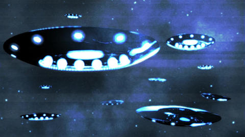 Ufo Invasion 2 Stock Video Footage