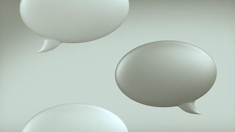 Speech Bubbles Loop 2 with Alpha Matte Stock Video Footage