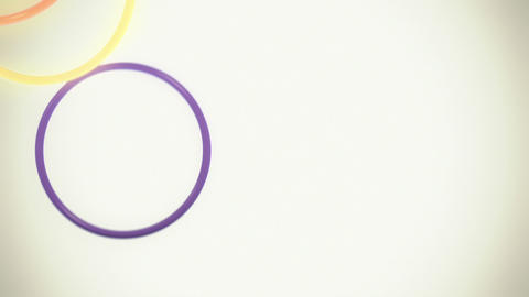 Falling Colorful Rings Loop (with Copy Space) Animation
