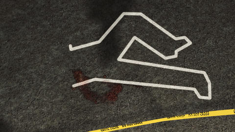 Crime Scene Investigation Zoom Out Stock Video Footage