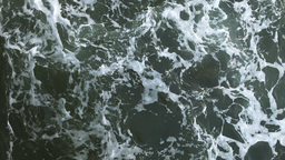 Sea foam in waves Stock Video Footage
