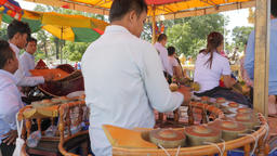 Khong wong yai being played at Dorngkeur Shrine,Phnom Penh,Cambodia Footage
