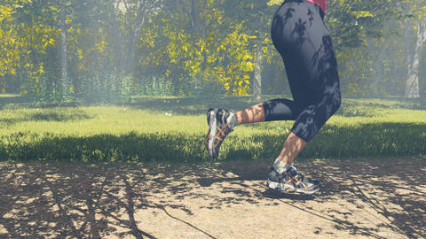 Runner legs and feet in action close up 4K Footage