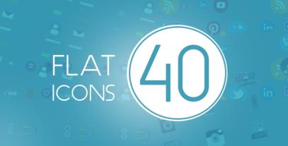 40 Flat icons Mega Pack After Effects Template