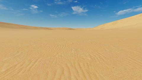 Motion to horizon through sandy desert Live Action