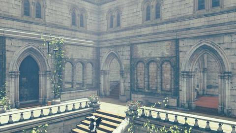 Fantasy medieval mansion Tilt up 4K Footage