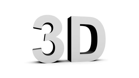 3D black-white - 4 rotations pack with alpha matte, 30fps - pre-rendered on blac Animation