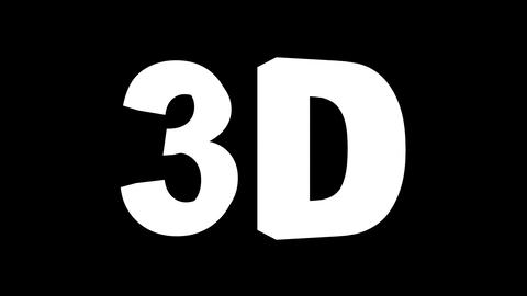 3D black-white - 4 rotations pack with alpha matte, 30fps... Stock Video Footage