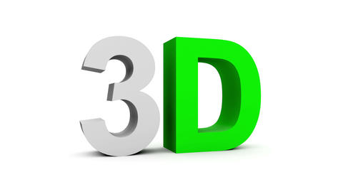 3D randomized colorful - 4 animations pack with alpha matte, 30fps - pre-rendere Animation