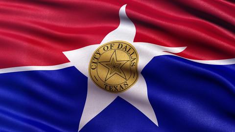 Dallas flag seamless loop Animation