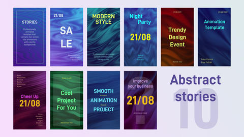 10 Abstract Stories After Effects Template