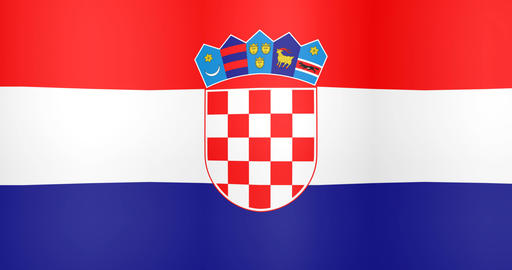 Waving Flag of Croatia Looping Background Live Action