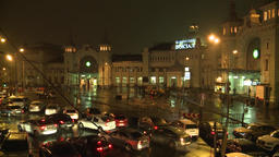 Moscow. Moscow Belorussky railway station Footage