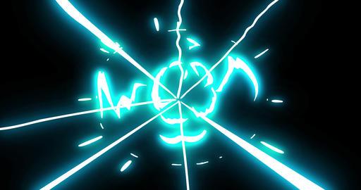 4 Step Thunder Shock Bolt Electrical Cartoon Animation 17 Animation