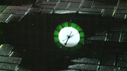 Moscow. Train station at night. Station clock. People. Rain Footage