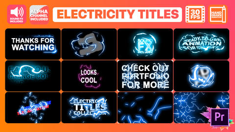Electricity Titles Collection Motion Graphics Template