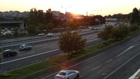 Evening Traffic, Kavacik Avenue in Istanbul Footage