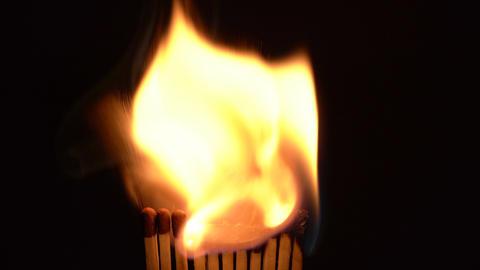 Match Sticks Catching Flame - Eleven Sticks Live Action