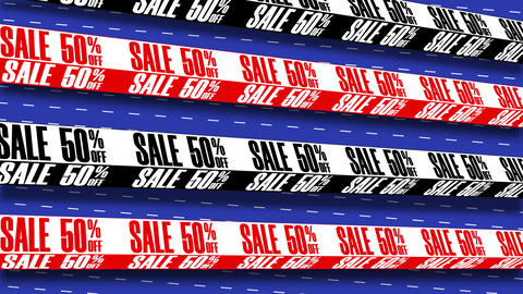 Seamless Loop Background With Text Message Sale, Typography GIF