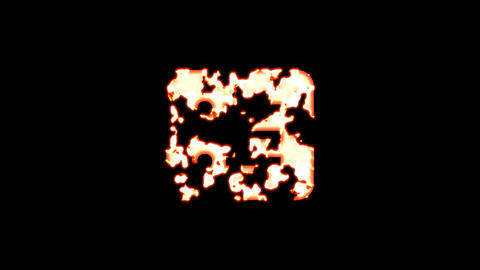 Symbol list burns out of transparency, then burns again. Alpha channel Premultiplied - Matted with Animation