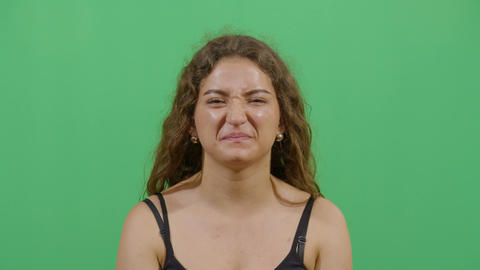 Woman Facial Expression Expressing Disgust Footage