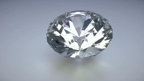 Rotating isolated diamond on a white background photo realistic 3d render loop Animation