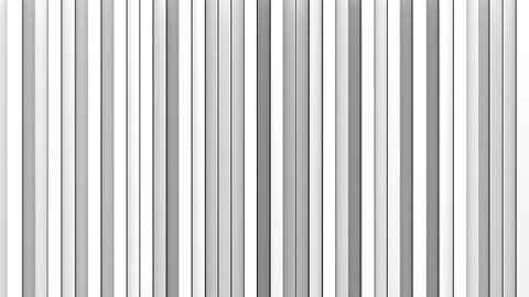 White vertical lines 3D render loopable animation Animation
