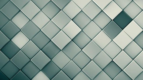 Grey rhombs extruded 3D render loopable animation Animation