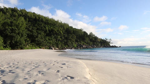 Tropical beach of Anse Georgette, Seychelles Footage