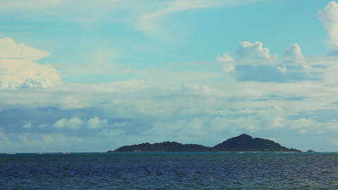 Time lapse of landscape at Seychelles islands Footage