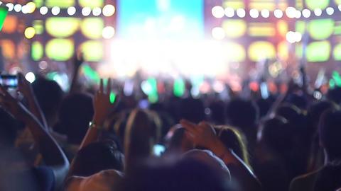 People having fun at rock concert slow motion Footage