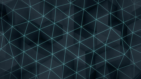 Glow triangle polygons background loopable Animation