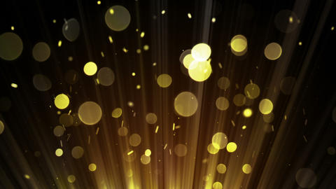 Gold bokeh circles loopable abstract background Animation