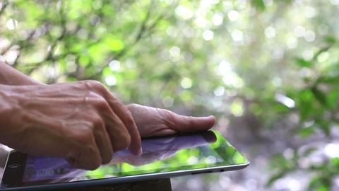 Man using digital tablet ,HD video Footage