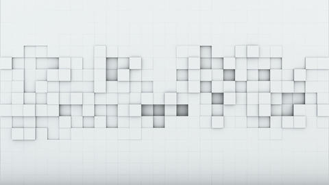 White squares 3D render loopable animation Animation