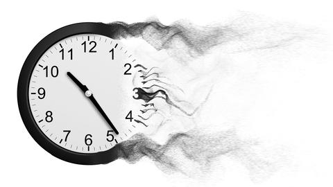 Time Disintegrating Into Dust Animation