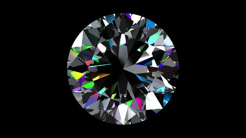 Iridescent Diamond Brilliant. Looped. Alpha Matte Animation