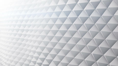 White surface vibrating 3D render. Seamless loop animation Animation