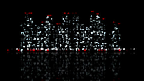 Out of focus lights of night city loop urban background Animation