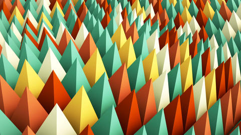 Colorful geometric background. 3D render animation loopable Animation