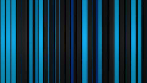 Glowing blue vertical lines. Abstract 3D render Animation