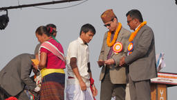 Awards ceremony at festival,Chitwan,National Park,Nepal Footage
